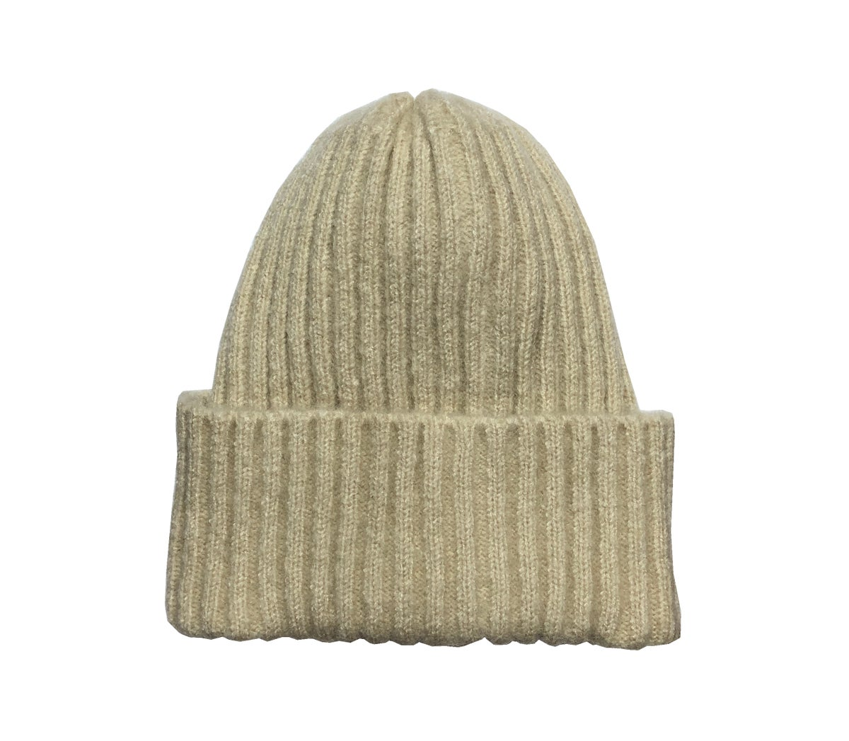 Image of Soft Fisherman's Beanie/ Watch Cap. Off-White.