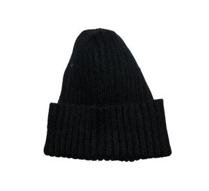Image of Soft Fisherman's Beanie/ Watch Cap. Black.