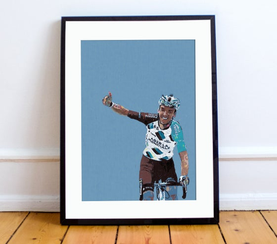 Image of Romain Bardet print A4 or A3 - By Matthew Burton
