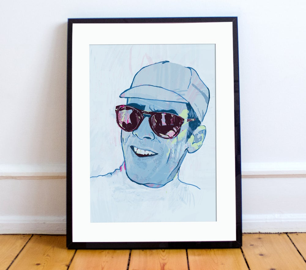 Image of David Millar print A4 or A3 - By Matthew Burton