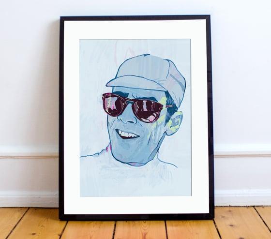 Image of David Millar print A4 or A3 - By Matthew Burton