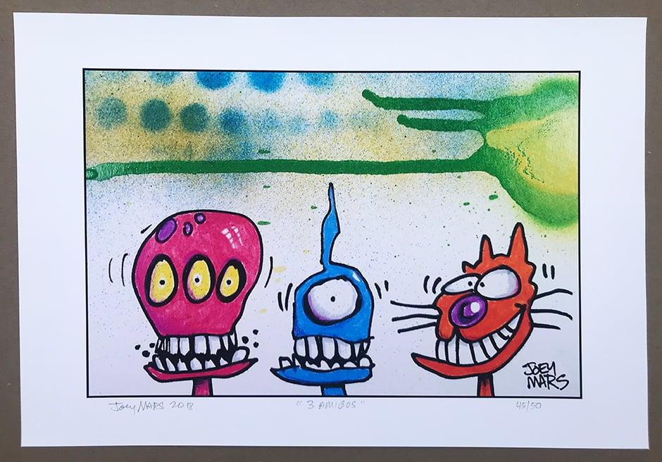 Image of Three Amigos (limited edition print)