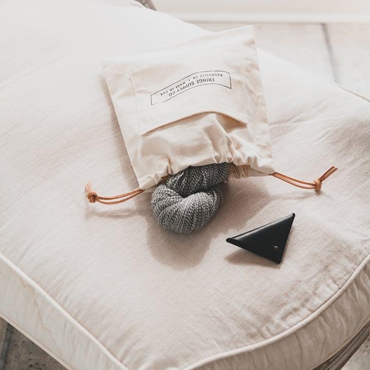 Image of Fringe Supply Co. drawstring project bag
