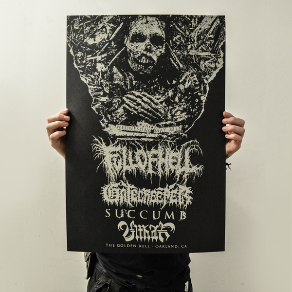 Image of FULL OF HELL // GATECREEPER gig poster