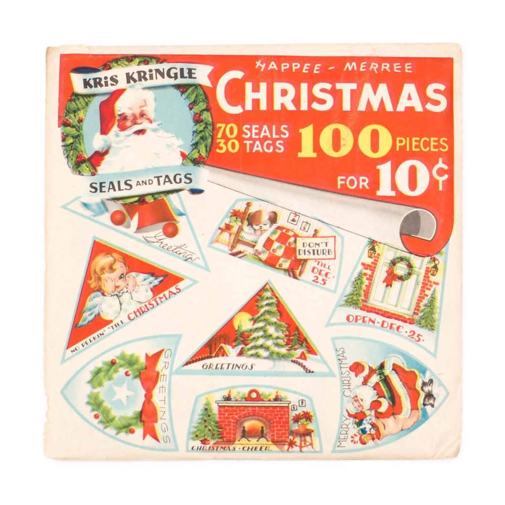 Image of 100 Piece Christmas Seals & Tags Set