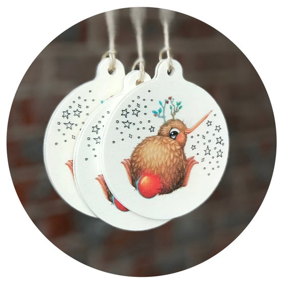 Image of Set of 3 Kuwi Christmas Ornaments (Plywood)