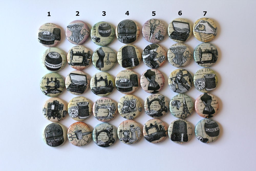 Image of Sewing Themed Flair Buttons
