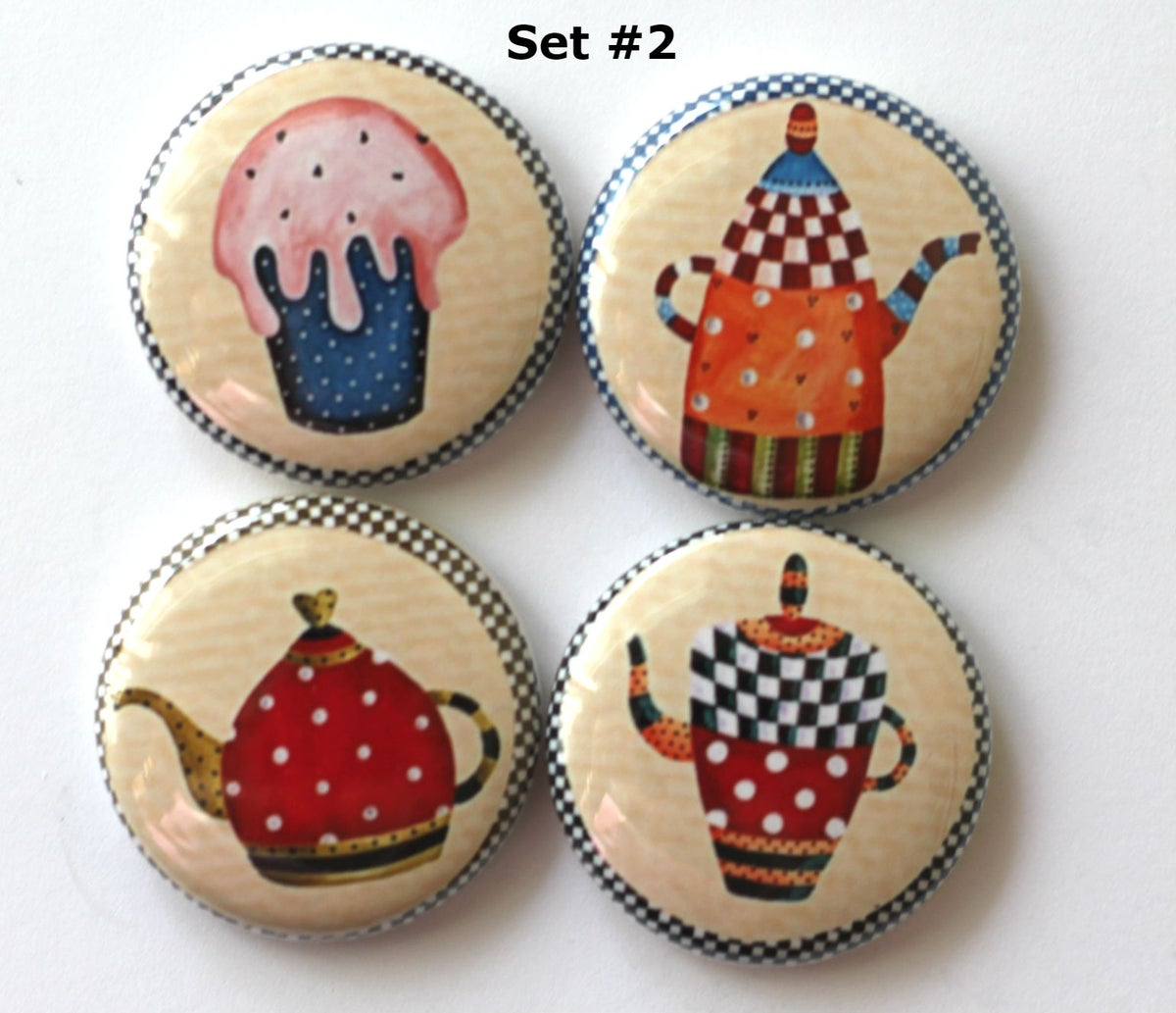 Image of Tea  and Sweet Flair Buttons