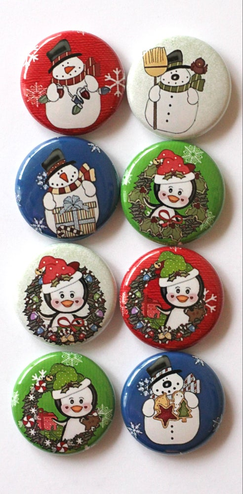 Image of Penguins & Snowmen Flair Buttons