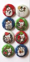 Penguins & Snowmen Flair Buttons