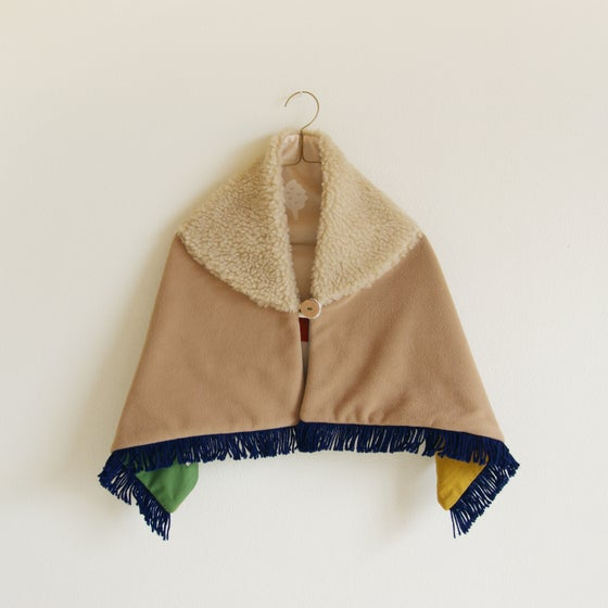 Image of kids shawl blanket #camel