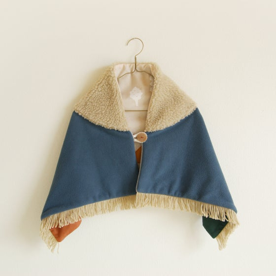 Image of kids shawl blanket #ash blue