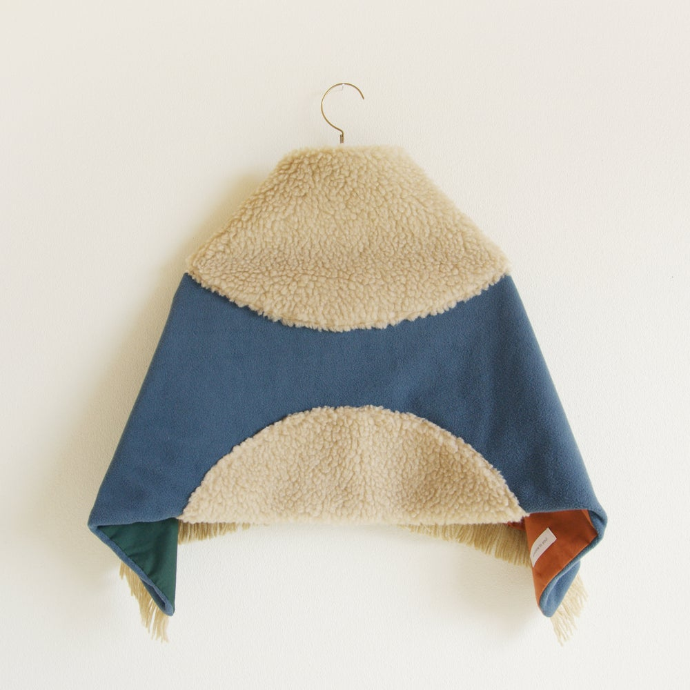 Image of shawl</br>kids</br>ash blue
