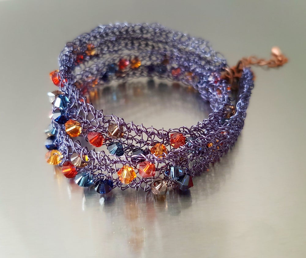 Image of CAFE AT NIGHT - JEWELLERY KNITTING KIT