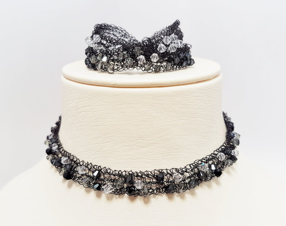 Image of MIDNIGHT ROSE - JEWELLERY KNITTING KIT