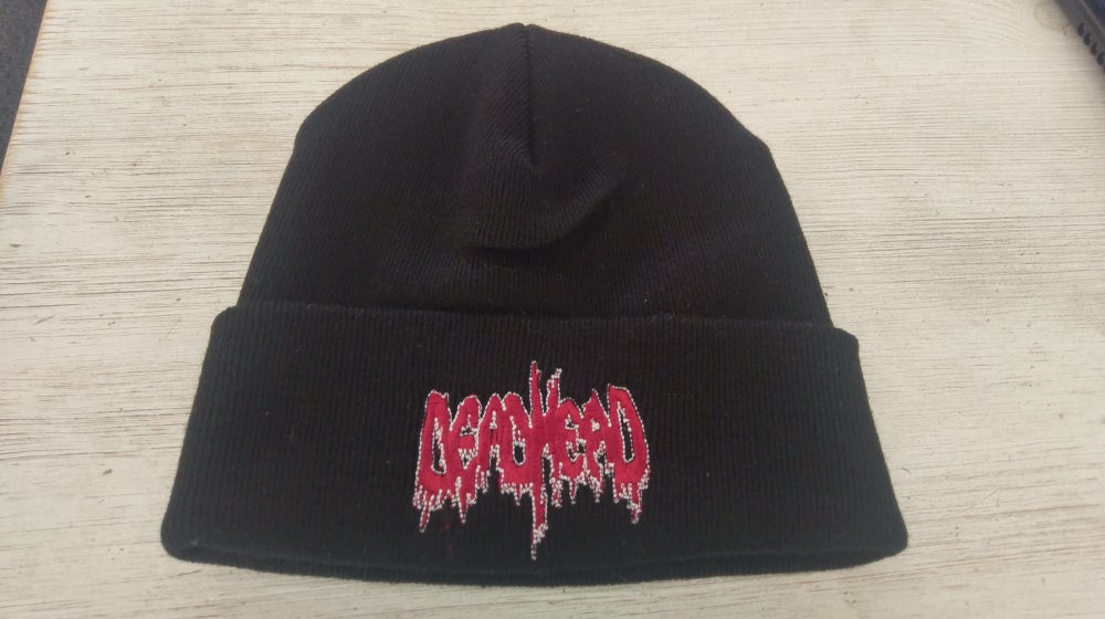 Image of Folded beanie with RED logo