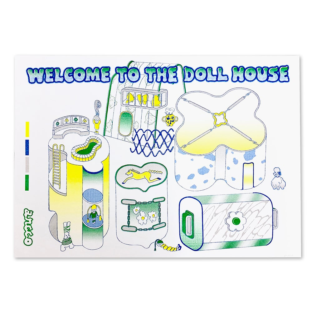 "Image of ancco「WELCOME TO THE DOLLHOUSE RISO print series」""Map"""