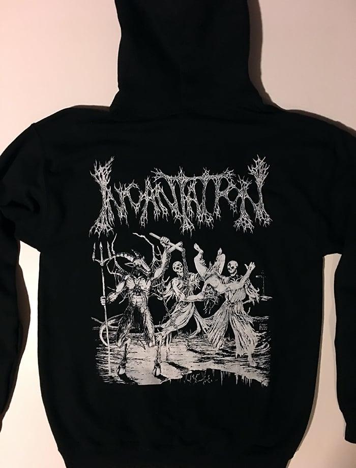 """Image of Incantation """" Blasphemous Cremation """" Hooded Sweatshirt"""