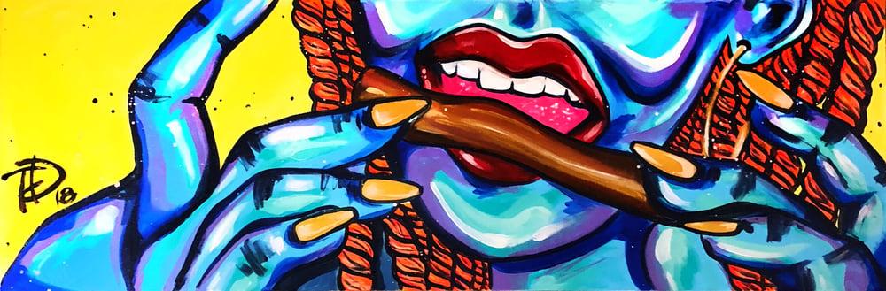 Image of Orange Gold Wrap (canvas print)