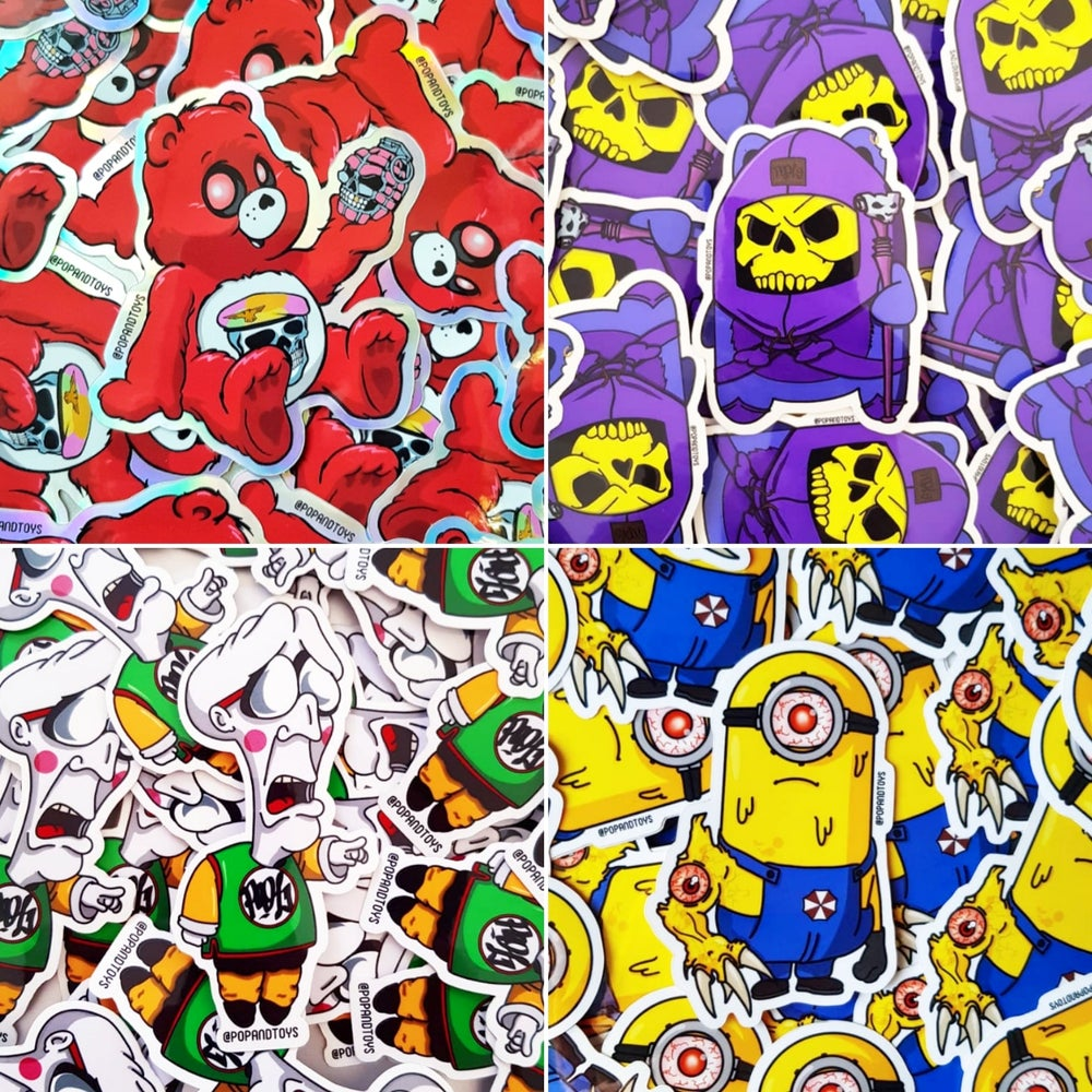 Image of Original vinyl stickers set 2
