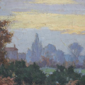 Image of Late 19th C, Oil Painting, 'Autumn Sunset'