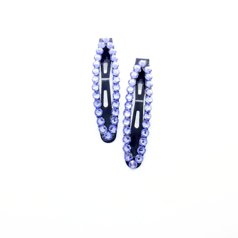 "Image of ""Lavish Lavender"" Swarovski bling hair snappies"