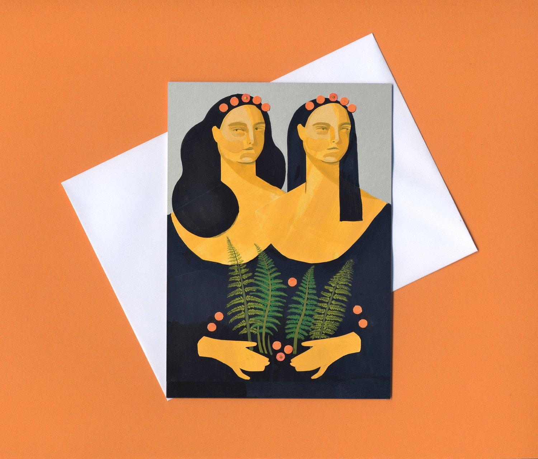 Image of Sisters Greetings card