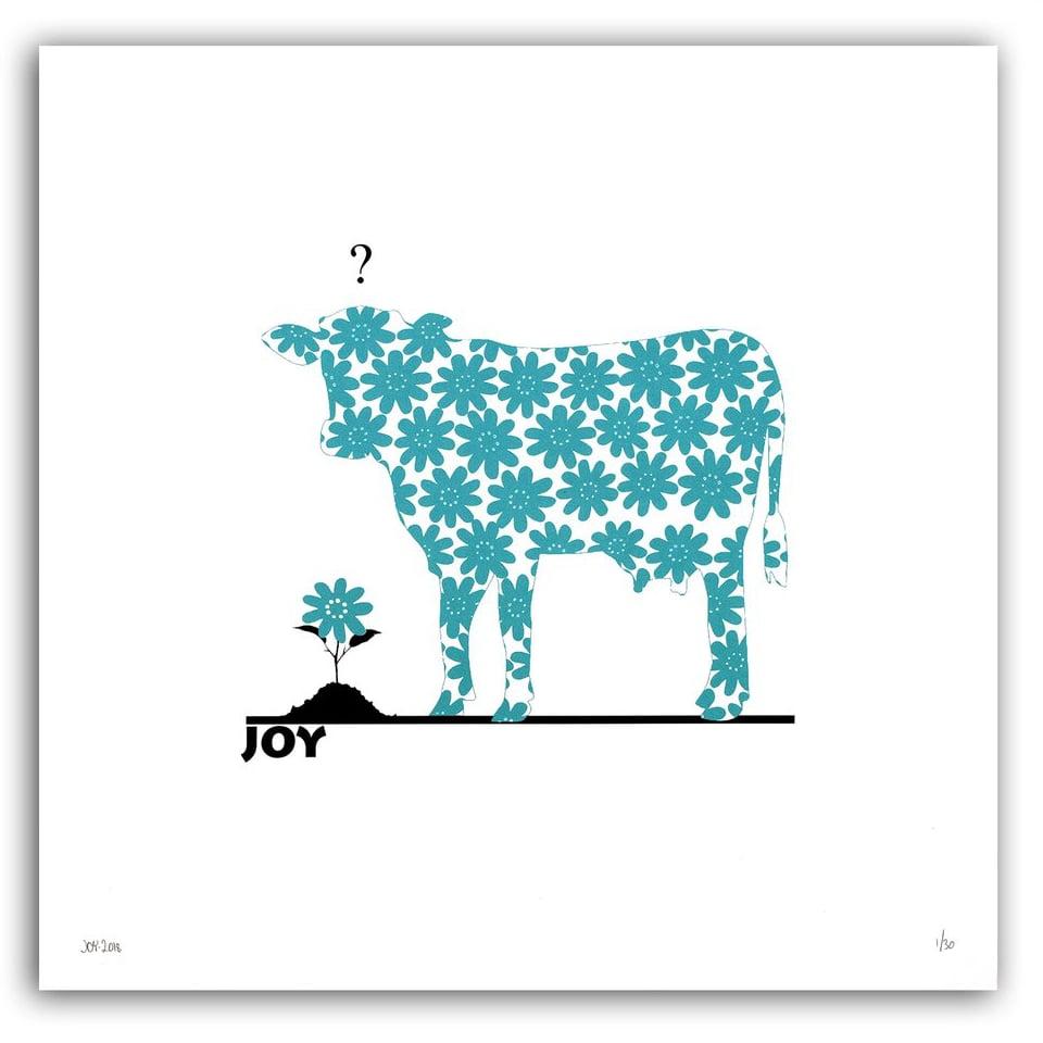 Image of JOY - Flower COWer petrol