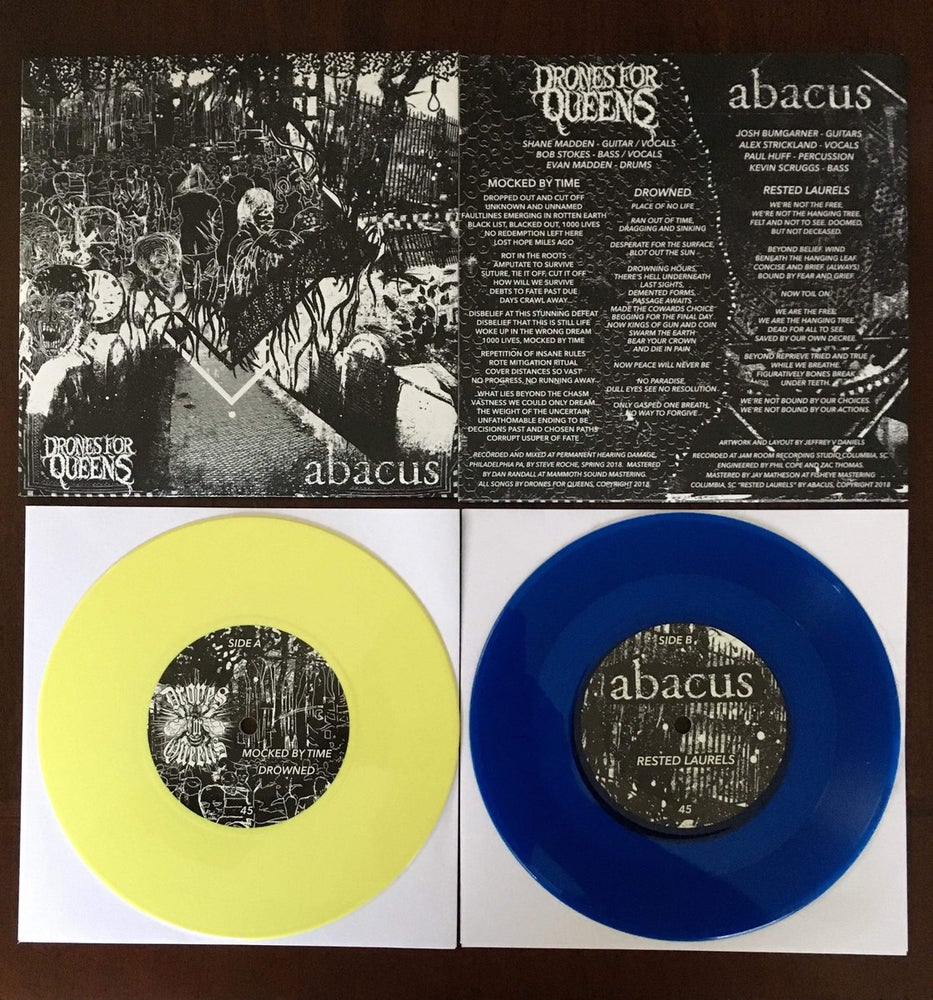 Image of Drones for Queens / Abacus split 7""
