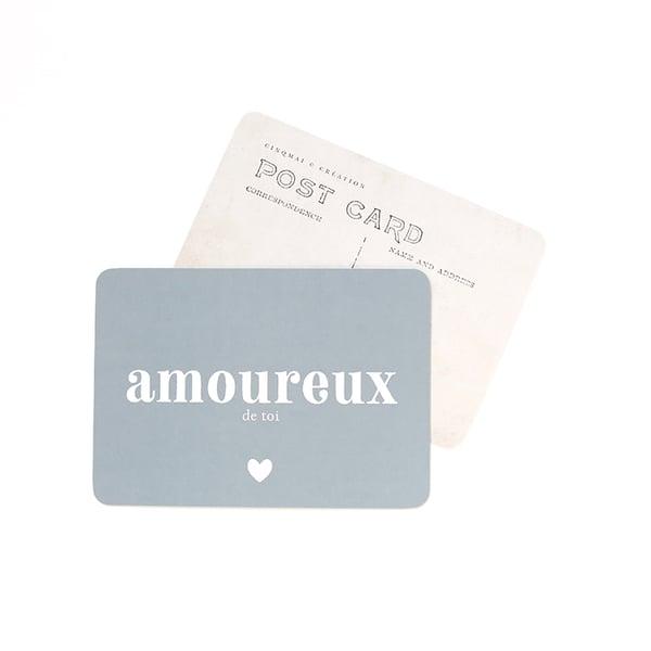 Image of Carte Postale AMOUREUX DE TOI / BLEU STONE