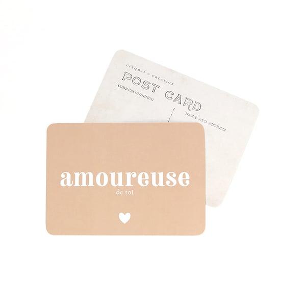 Image of Carte Postale AMOUREUSE DE TOI / ROSE D'AUTOMNE