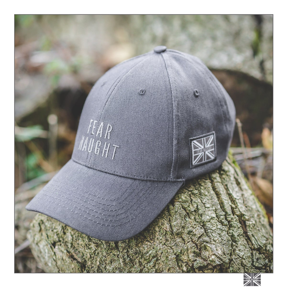 Image of Fear Naught Charcoal Denim Cap