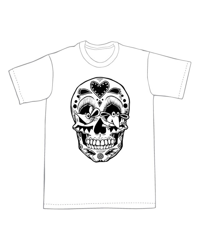 Mouse Sugar Skull T-shirt (A3) **FREE SHIPPING**