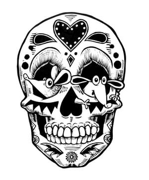 Image of Mouse Sugar Skull T-shirt **FREE SHIPPING**