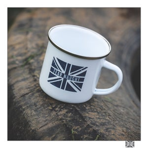 Image of Fear Naught Enamel Mug