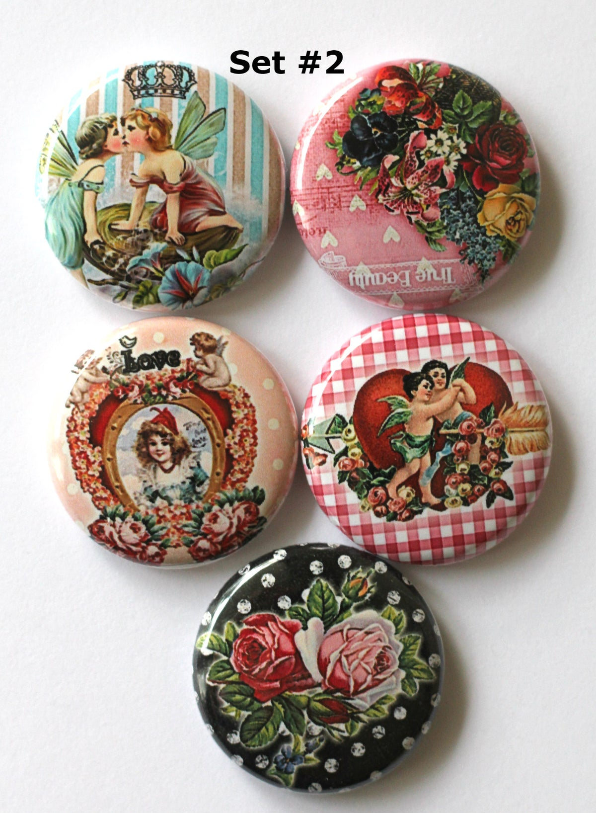 Image of Love 1 Flair Buttons