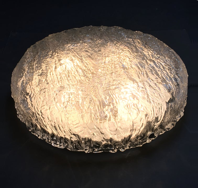 "Image of 18"" Textured Glass Flush Mount by Kaiser"