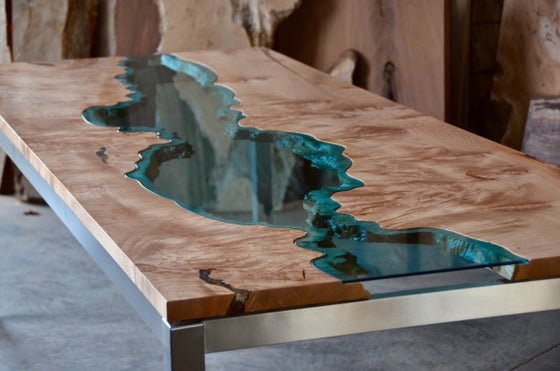Image of burled maple river dining table 3