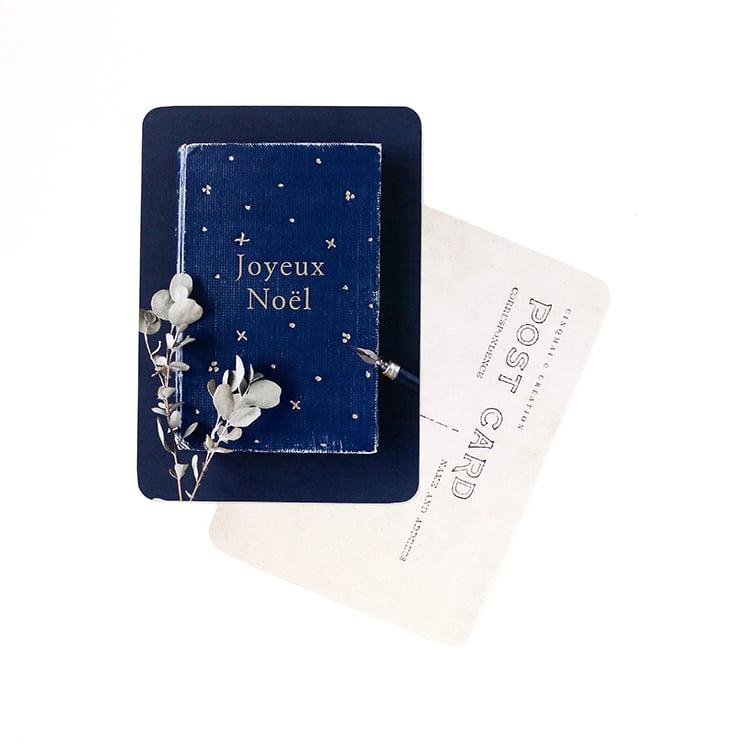 Image of Carte Postale JOYEUX NOEL / HEURE BLEUE