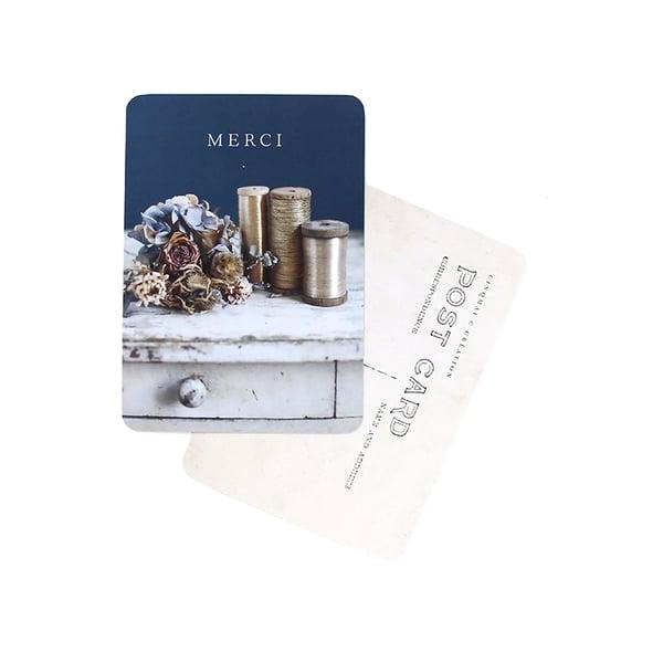 Image of Carte Postale MERCI / HEURE BLEUE
