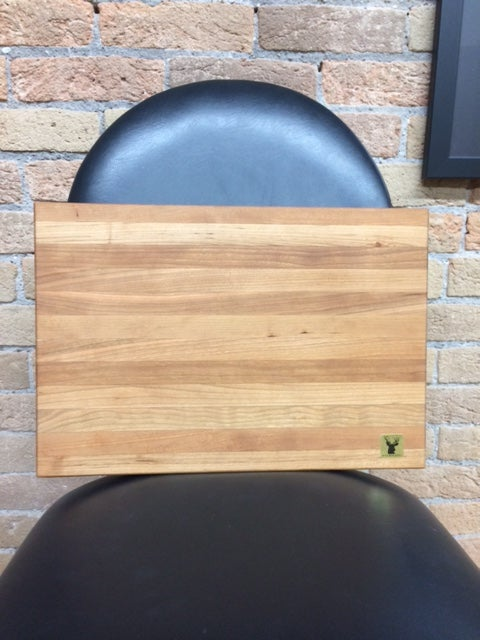 Image of Tad Mebane Signature Art • Medium Cherry Wood Cutting Board