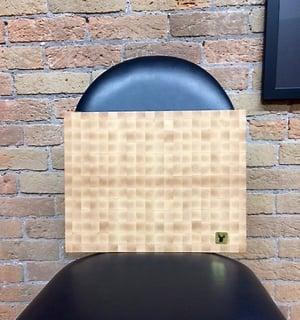 Image of Tad Mebane Signature Art • Hard White Maple Wood Cutting Board (Checkerboard Pattern)