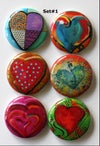 Funky Heart Flair Buttons