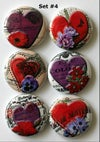 Romantic Heart Flair Buttons