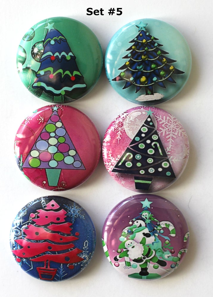 Image of Christmas Tree Flair Buttons