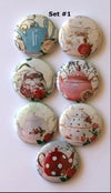 Shabby Chic Teapot Flair Buttons