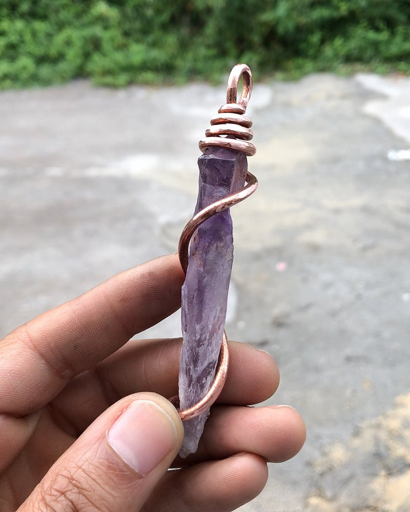 Image of Copper Wrapped Uruguay Amethyst