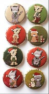 Cats & Dogs Christmas Flair buttons