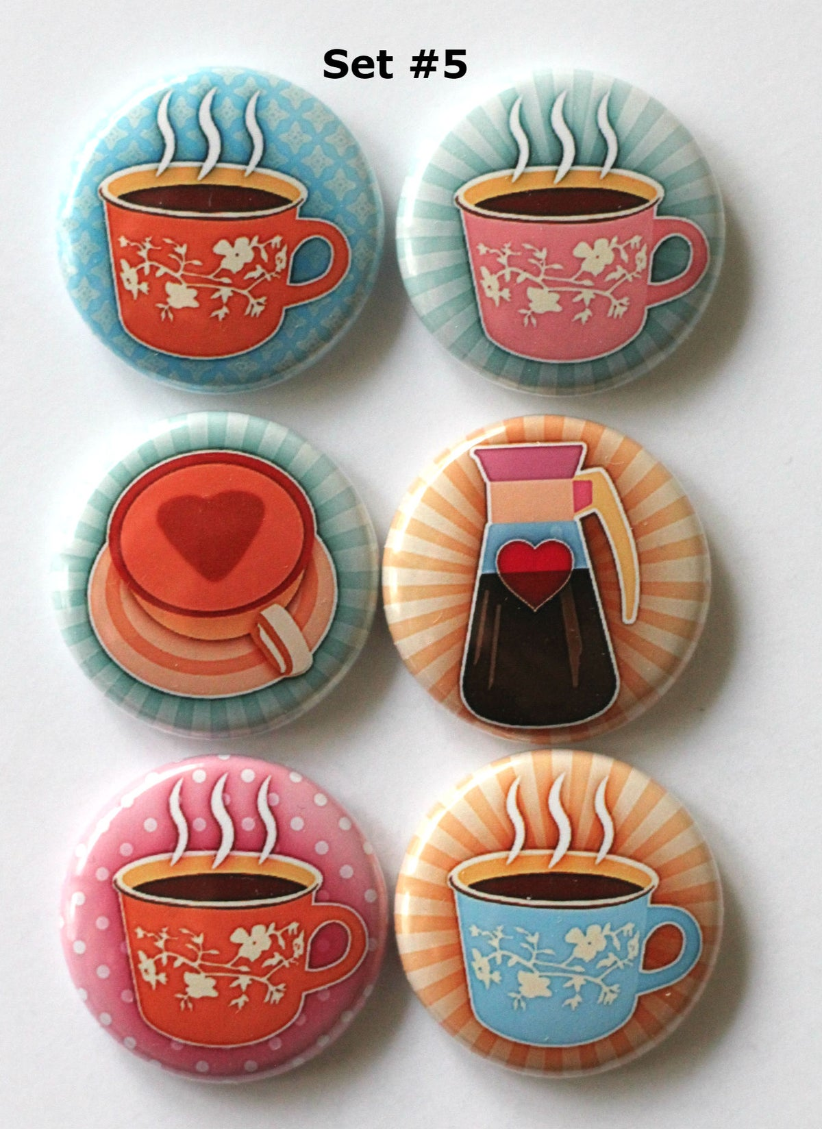 Image of Coffee Lovin' Cups Flair Buttons