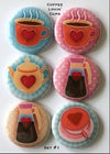 Coffee Lovin' Cups Flair Buttons
